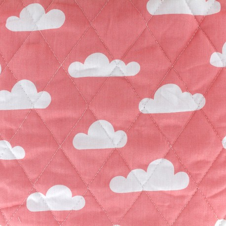 Quilted Cotton Fabric Color Chevrons Coral