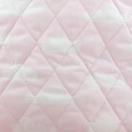 Tissu matelassé Color Nuages - Rose  x 10cm