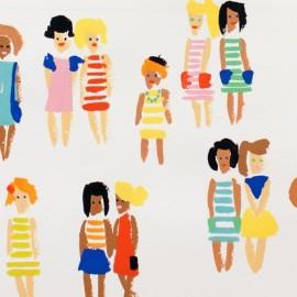 Tissu Alexander Henry Summer Stripes - Soleil x 21cm