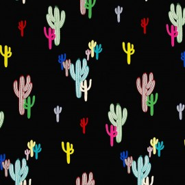 Tissu Alexander Henry Solo Saguaro -  Black/Color x 20cm