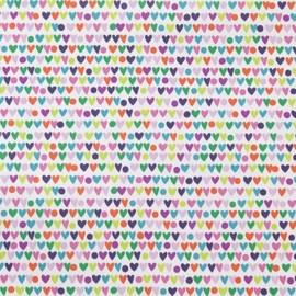 Tissu Alexander Heart to Heart - Pastel x 10cm