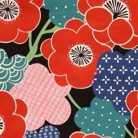 Tissu Alexander Kiki Ume - Rouge x 10cm