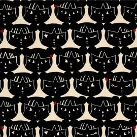 Tissu Alexander Kiki Kagami - Noir x 10cm