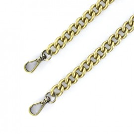 Anse de sac chaîne maille L 120 mm - bronze x 1