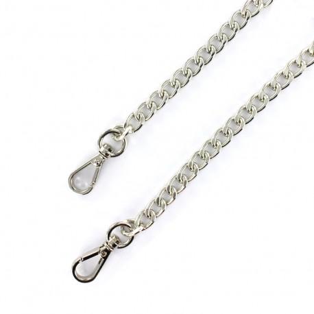 Bag-handle mesh chain M 120 mm - nickel x 1