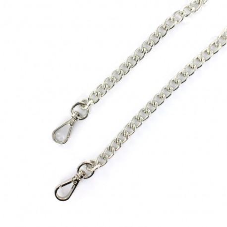 Bag-handle mesh chain S 120 mm - nickel x 1
