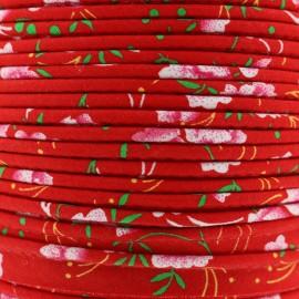 Passepoil Petit Pan Pivoine - rouge x 1m