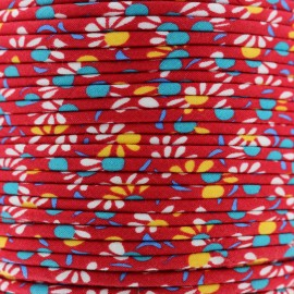 Passepoil Petit Pan Iroquois - rouge x 1m