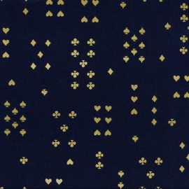 Tissu coton Cotton Steel Wonderland - Navy  x 10cm