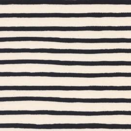 Tissu coton Cotton Steel Wonderland - Bandes noirs  x 10cm