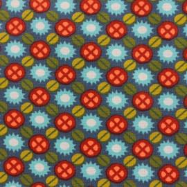 Tissu coton Oeko-Tex Petit Pan Hébrides - ardoise x 10cm