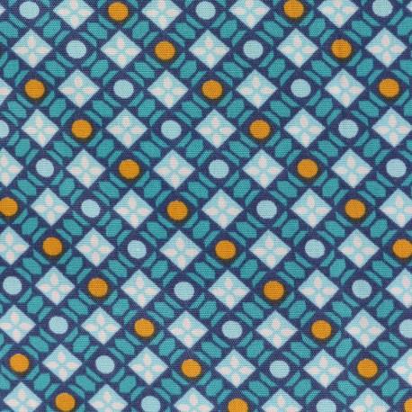 Petit pan cotton fabric Callune - sky x 10cm