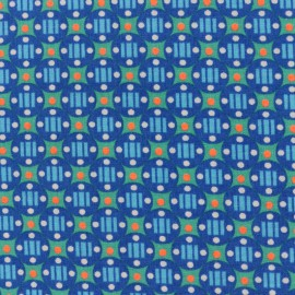 Petit pan Oeko-Tex cotton fabric Stella - outremer x 10cm