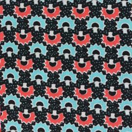Tissu coton Oeko-Tex Petit Pan Kakinoki - noir x 10cm