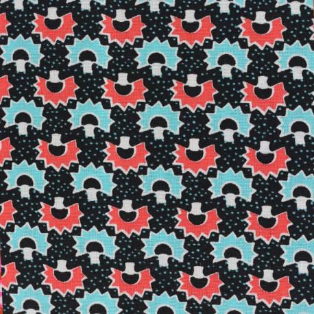 Petit pan cotton fabric Kakikoni - black x 10cm