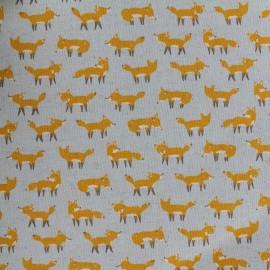 Tissu coton Kokka Anika World Cat - Vert x 10cm