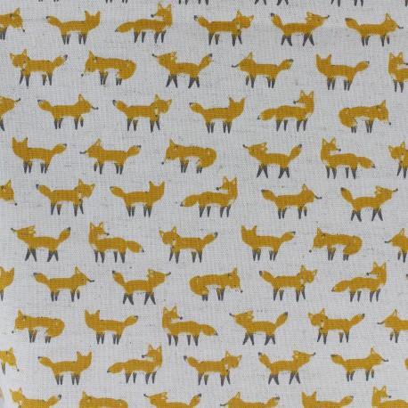 Tissu coton Kokka Anika World Cat - Beige x 10cm