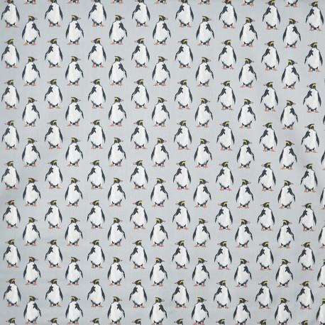 Tissu enduit coton mat Penguin - arctic x 16cm