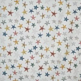 Tissu enduit coton mat Starfish - pebble x 64cm