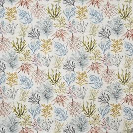 Tissu enduit coton mat Coral - tropical x 64cm
