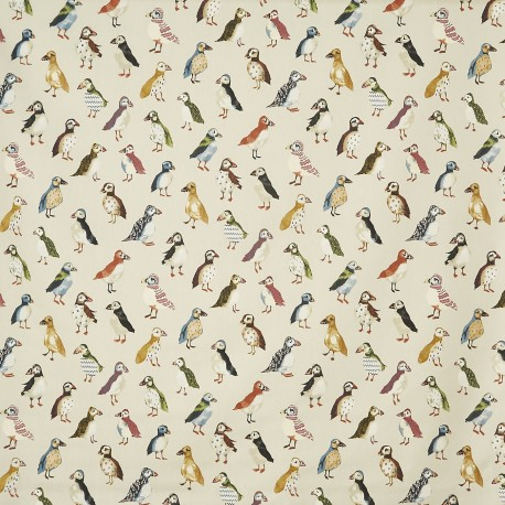 Matt coated cotton fabric Puffin - driftwood x 64cm