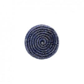 Spirale irisée fabric button - midnight blue
