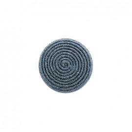 Bouton en tissu Spirale irisée - bleu céleste