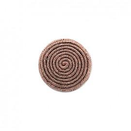 Spirale irisée fabric button - pink