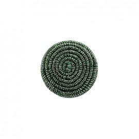 Bouton en tissu Spirale irisée - vert