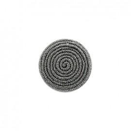 Bouton en tissu Spirale irisée - gris anthracite