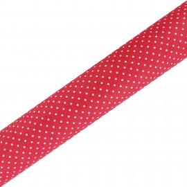 Tissu adhésif haute qualité Plumetis - Rouge (45cm x 250 cm)