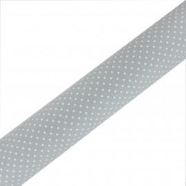 Tissu Oeko-Tex adhésif haute qualité Plumetis - Gris (45cm x 250 cm)