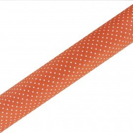 High Quality Adhesive fabric Plumetis - Orange (45cm x 250cm)