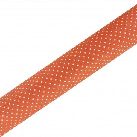 High Quality Adhesive fabric Plumetis - Orange (45cm x 250cm)