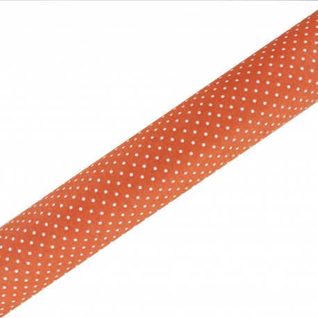 Tissu adhésif haute qualité Plumetis - Orange (45cm x 250 cm)
