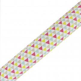 Tissu Oeko-Tex adhésif haute qualité Isocele - Rose/Jaune (45cm x 250 cm)