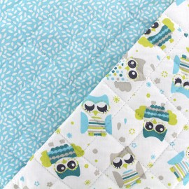Quilted cotton fabric Gylfie/stili - sky x 10cm