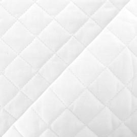 Tissu matelassé Neige - blanc optique x 10cm