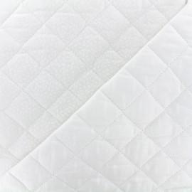Tissu matelassé Kioni/Stigmat - blanc x 10cm