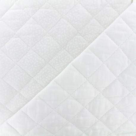 Quilted cotton fabric Kioni/Stigmat - white x 10cm