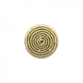 Bouton en tissu Spirale irisée - doré