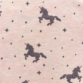 Poppy jersey fabric Criss Cross - pink x 10cm
