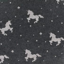 Poppy jersey fabric Criss Cross - anthracite x 10cm