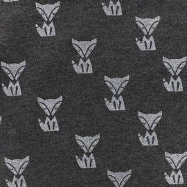 Poppy jersey fabric Fox - anthracite x 10cm