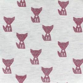 Poppy jersey fabric Fox - ecru x 10cm