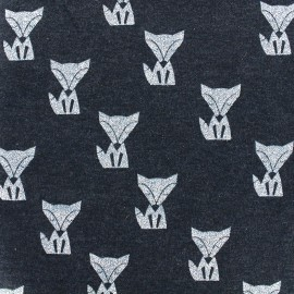 Tissu sweat léger Poppy Fox - marine x 10cm