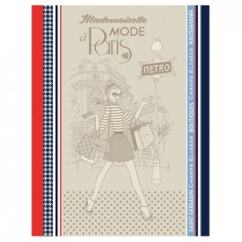 French Tea towel Multico - Shopping x 1