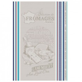 French Tea towel Multico - Camembert x 1