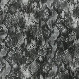 Simili cuir souple Snake - gris x 10cm