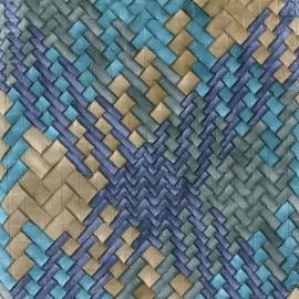 Simili cuir Caba - bleu x 10cm